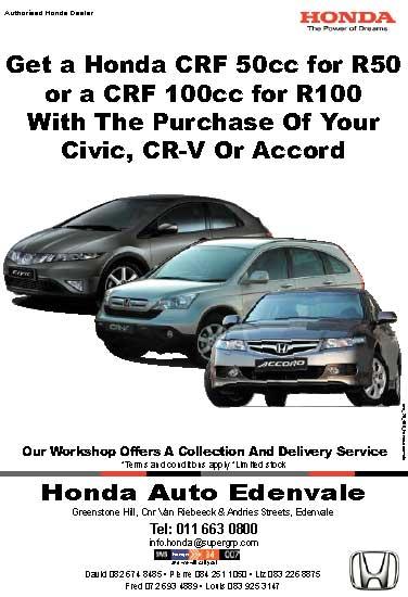 Honda Auto Edenvale Media